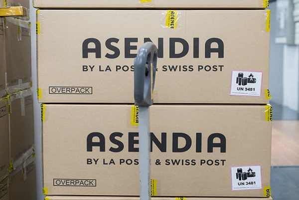 Asendia logo on parcel