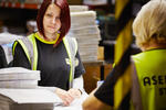 Asendia staff working on sorting